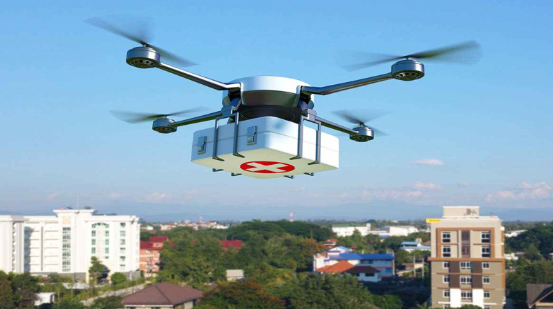 vaccine delivered by drone in telangana