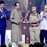 N Ambika with Award